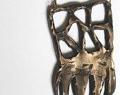 bronze alien squid necklace