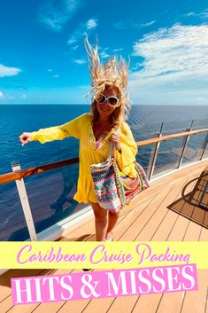 What to consider when packing for a Caribbean #Cruise! #Packing for a Caribbean cruise can be tricky. The weather tends to be warm and humid, and if you're anything like me (I sunburn to a crisp in 20 minutes) you need extra space in that suitcase for sun protection items like hats, rash guards & sunscreen. Not to mention, you gotta pack the formal night wear and SHOES! Oh, the shoes! Cruise Packing Tips, Carry On Packing, Cruise Port, Cruise Vacation, Cruise Formal Night, Adventure Of The Seas, Royal Caribbean Cruise, Cruise Wear, Night Wear