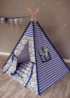 Bright Nordic Style Childrens Indoor Tent Game House 100% Cotton Canvas Princess Castle Play House Toys Boys And Girls Baby Gifts Children Furniture Sets