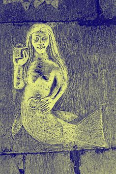The Clonfert mermaid at Clonfert Cathedral, Clonfert, County Galway, Ireland Legend Of The Seas, Shoal Of Fish, Divine Revelation, Siren Mermaid, Mermaids And Mermen, Merfolk, Sea Creatures, Ancient History, Mythology