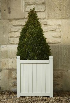 Hardwood Square Versailles Planter in French Grey W44cm x H49cm £39.99