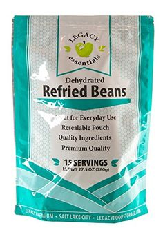 Legacy Essentials Freeze Dried Refried Beans  15 Year Shelf Life for Emergency Survival Food Storage Supply  Disaster Preparedness Quantity 1 * To view further for this item, visit the image link.