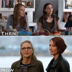 Supergirl ~ ok but the actresses that they got to play the younger versions of Mellissa and Chyler was some fantastic casting right there. Supergirl Superman, Supergirl 2015, Supergirl And Flash, The Cw Shows, Tv Shows, Arrow Flash, Kara Danvers Supergirl, Dc Comics, Cw Dc