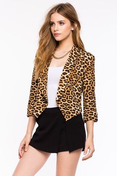 Леопардовый блейзер Размеры: S, M, L Цвет: коричневый с принтом Цена: 2033 руб.     #одежда #женщинам #блейзеры #коопт