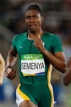 South Africa's Caster Semenya competes in the Women's Semifinal during the… Rio Olympics 2016, Winter Olympics, Caster Semenya, Rio 2016 Pictures, 800m, World Class, Track And Field, Olympic Games, Athletics