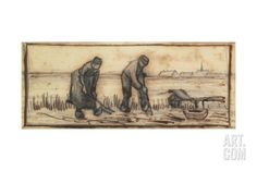 The Potato Harvest, from a Series of Four Drawings Representing the Four Seasons Giclee Print by Vincent van Gogh at Art.com