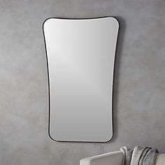 elroy small walnut wall mirror