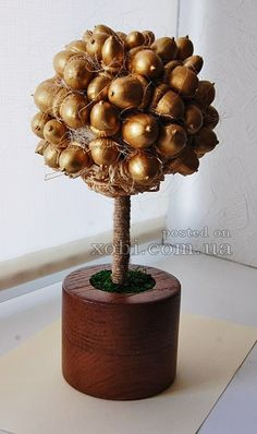 Topiary of acorns. Tutorial.