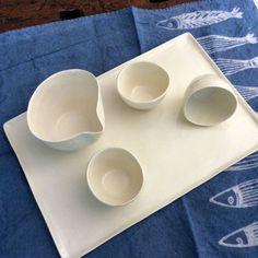 Servizio da caffè in porcellana con vassoio