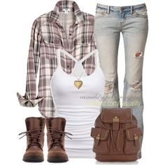 Outdoor roughing it outfit Oufits Casual, Casual Outfits, Fashion Outfits, Womens Fashion, Casual Wear, Style Fashion, Country Outfits, Country Girls, Country Boots