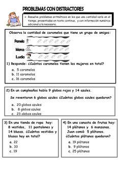 EJERCICIOS MATEMATICOS PARA 2° GRADO