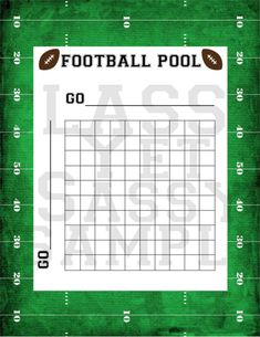 Free Printable Football Squares Grid Visit Our Store to