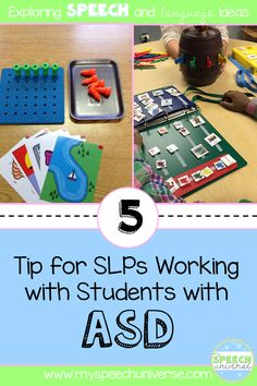 Looking for ideas for your speech therapy sessions with students with autism? These are 5 tips for therapy activities that an SLP can use with students with ASD.