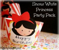 Snow White Princess party cupcake wrapper printable...lots of cute party printables at this site