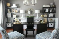 Formal Dining Room Turned Home Office - Houzz