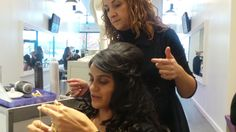 Get your glam on with a gorgeous style by @eminas_creations #flywiththestylebar  #bridal #blowdry #curl #salon #beauty