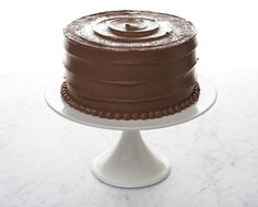 Sweet & Salty dark choc cake filled with salty caramel and frosted in caramel choc ganache.