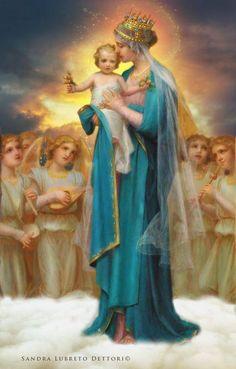 We hope in You. #Queenofangels #rosary #Queenofheaven