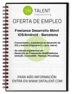 #Freelance Desarrollo Móvil #iOS/Android en #Barcelona