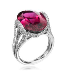 one of my very favorite stones! Love this setting too! Bling Jewelry, Diamond Jewelry, Jewelery, Unique Jewelry, Mark Patterson, Triangle Ring, Tourmaline Jewelry, Beautiful Rings, Fashion Rings