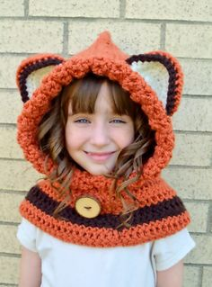 Fox Hat  Fox Hoodie  Fox Cowl  Animal Hat  by MegansMenagerie, $45.00