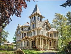 1873 Gothic Revival - New Haven, CT - $438,000--I love that it has SO many of the original feature still in the house, yet it still looks updated and modern--but not too much. One of the original gas lamps like the one at the bottom of the stairs--are you kidding me?! If I could I would buy this house JUST for that. I LOVE gas lamps! Ahhh what a house!