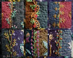 Mabushi kumai chinu sakura iroi kokoro hodo ketetsuki akari no naka kimi no kao ga ukande kieta Machi. Simple Embroidery, Embroidery Fabric, Embroidery Designs, Crazy Quilt Stitches, Crazy Quilting, Broderie Simple, Fabric Embellishment, Sakura, Patch Design