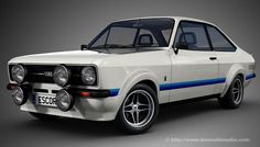 From an era when Ford made REAL good cars - Ford Escort Mexico 70s Cars, Retro Cars, Vintage Cars, Ford Rs, Car Ford, Ford Capri, Automobile, Gt Turbo, Ford Escort