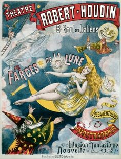 Vintage George Melies Illusion Fantastique Post Card