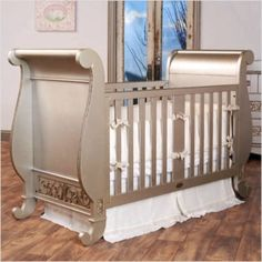 Metallic color palette in a baby nursery | Project Nursery