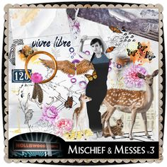 Mischief & Messes v3 by Holliewood Studios @ MischiefCircus.com. A digital image kit for your art, collages, art journaling and scrapbooking.