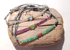 SWEET BRACELET. Bracelets with semiprecious stones and silver. Adjustable closure with drawstring. Piece made by hand in the atelier of Barcelona. Boho chic style. #piabarcelona #sweetbracelet