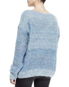 Fisherman's Pullover Sweater, Sky