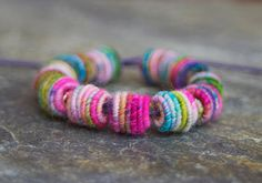 Small Handmade Fabric Textile Beads for by jimenastreasures, $14.30