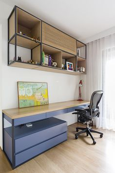 Modern Home Decor Bedroom Guest Room Office, Home Office Space, Home Office Decor, Bedroom Setup, Home Decor Bedroom, Office Interior Design, Office Interiors, Air Conditioner Cover Indoor, Modern Home Offices