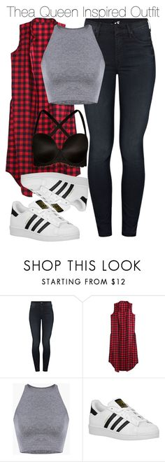 """""""Thea Queen Inspired Outfit"""" by staystronng ❤ liked on Polyvore featuring Mother, adidas Originals, City Chic, Summer, Arrow and theaqueen"""