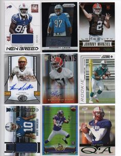 Up for sale is for this lot of (9) NFL game used jersey, autograph, football card lot - 2013 Elite MARQUISE GOODWIN New Breed Jersey SER #225/399 - 20... #football #card #rookie #autograph #used #jersey #game