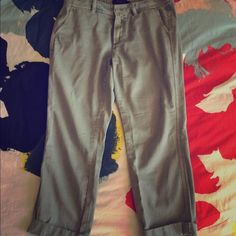 J. Crew Army Green Chino Pants J. Crew Chino pants. Super super soft and lightweight makes these so comfortable! Color is light enough that it goes with any outfit. In great condition! J. Crew Pants