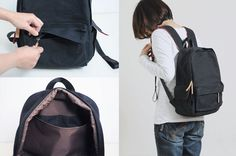 Be Strong Multiple Pockets Backpack Bag PDF Sewing by niizo
