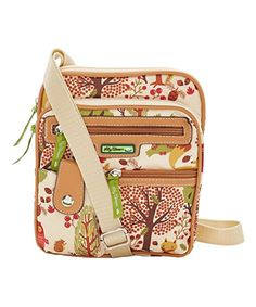 Lily Bloom Forest Owl Gigi Crossbody Bag