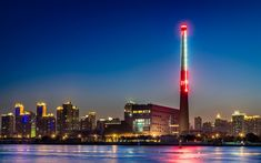 Download wallpapers Shanghai, Huangpu River, tower, nightscapes, China, Asia