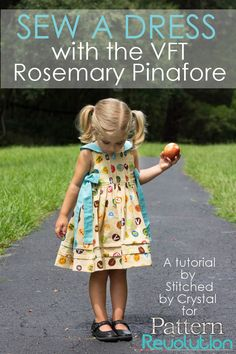 Turn the Rosemary Pinafore into a Dress- a Tutorial by Crystal — Pattern Revolution