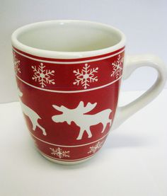 SALE 10 % off !!!  Tasse / Kaffeebecher Elch / Weihnachten  Keramik