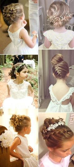 new updo hairstyles for flower girls Kid little girl bridal up do