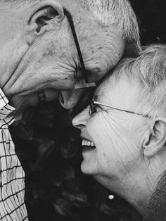 people old man woman couple love laugh happy black and white Elderly Couples, Elderly Man, Photo Couple, Couple Shoot, Happy People, Live Long, Alter, Documentaries, Dating