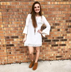 This [natural hues] dress is too adorable and is a perfect piece to add to your spring wardrobe!