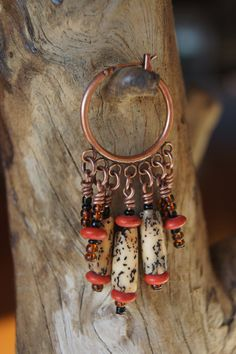 Messy Crow Wood Beaded Earrings by MessyCrow on Etsy, $15.00 www.messycrow.com