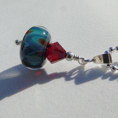 Lampwork boro glass pendant necklace. Sterling silver. by Craftybeadsbysam on Etsy https://www.etsy.com/uk/listing/517891339/lampwork-boro-glass-pendant-necklace