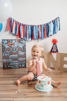 Baby's First Birthday! Nautical themed @angiesphotobox @chalkitupboards crabs anchors whales