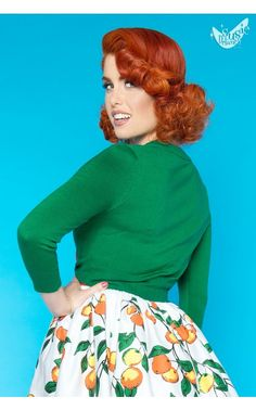 Pinup Girl Clothing - Cropped Cardigan in Kelly Green | Pinup Girl Clothing